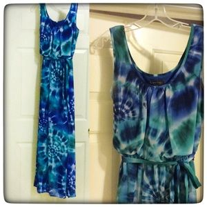 Tie dye maxi dress from Luxology, medium
